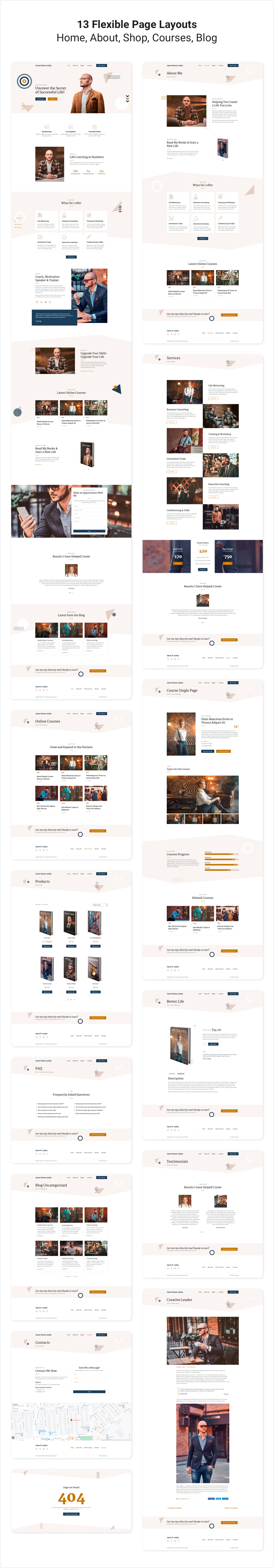 presentstion2 Gloas — Coach, Speaker & Trainer Template Kit for Elementor theme WordPress